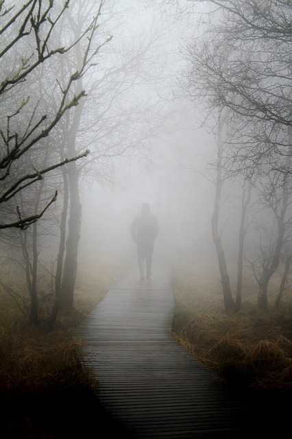 walking through the fog