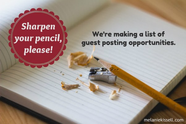 List of guest posting opportunities