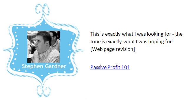 Stephen Gardner testimonial and graphic