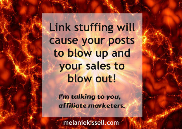 Link stuffing can backfire on your blogging and marketing